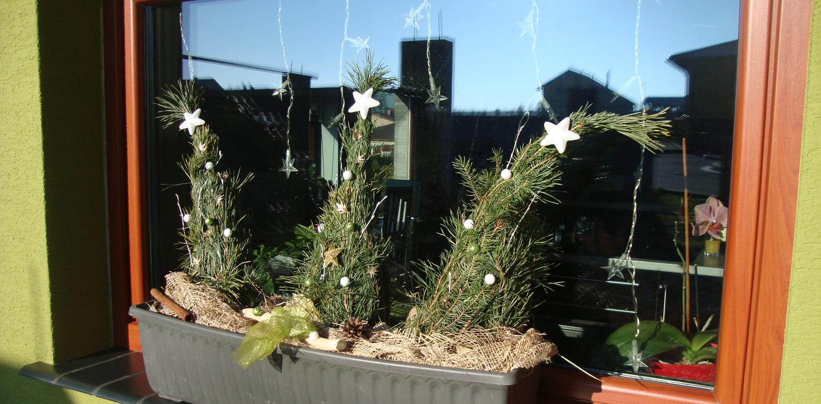 Náš domeček - i na okně máme stromečky