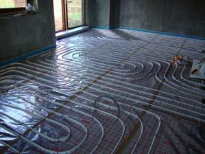podlahové topení obývací pokoj