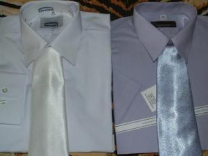 taketo nádherné košielky a kravatky k tomu bude mať môj drahy, aby so mnou ladil na svadbe aj po polnoci