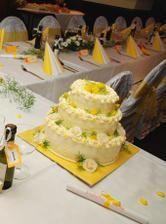 náš výborný svatební dortíček