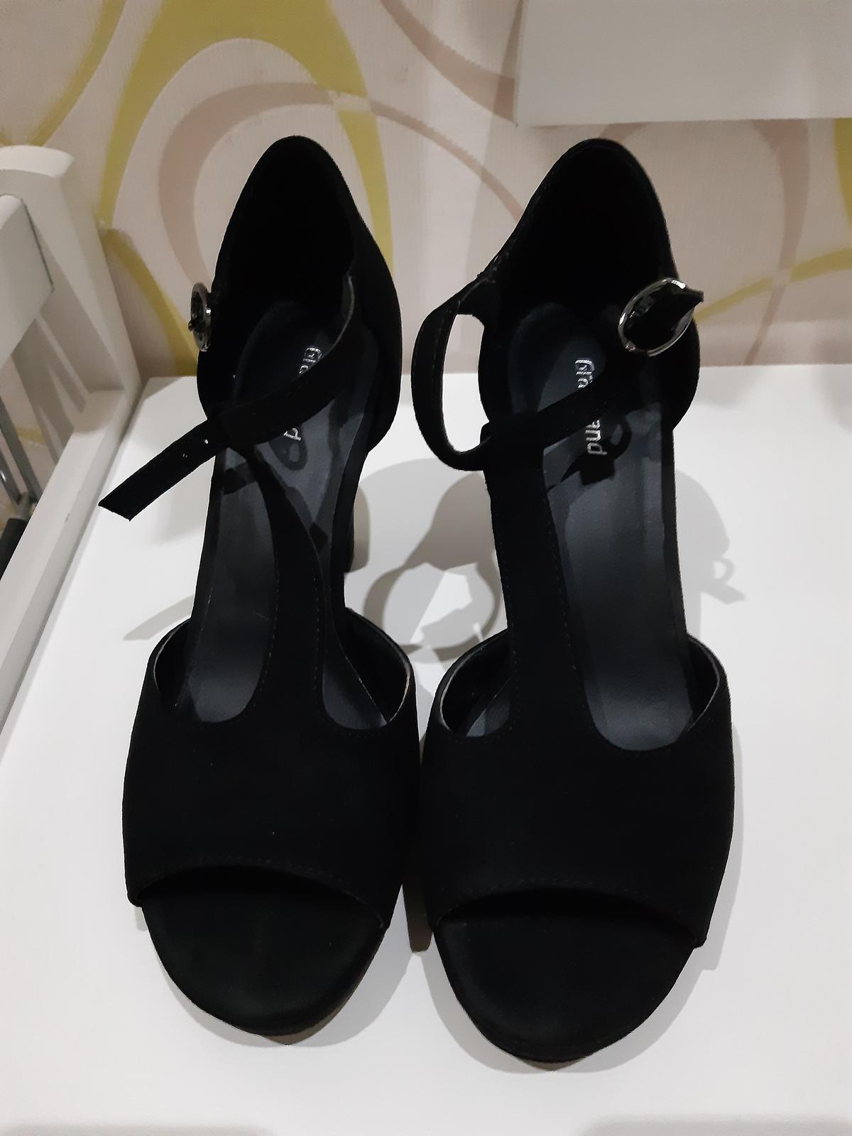 Elegantné čierne sandále - Obrázok č. 1