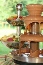 čokoládová fontána, objednaná:)