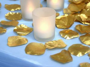 zlaté lupene do zlatej výzdoby