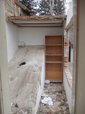 veranda při bourání