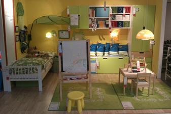 dětský pokojíky mají v Ikei krásný...