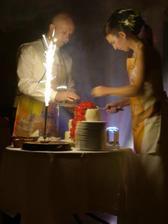 delíme sa o naše šťastie - svadobnou tortou