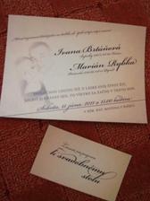 Nase svadobne oznamenie, aj s pozvankou k stolu :-)