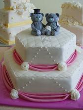 A táto bola druhá hlavná svadobná torta, prenádherná od mojich bratov a ich manželiek :-)