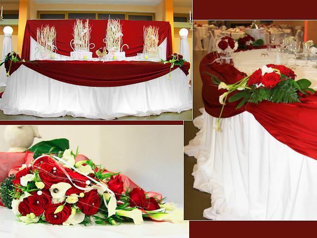 Svadobne vyzdoby cervena-bordova - Obrázok č. 24