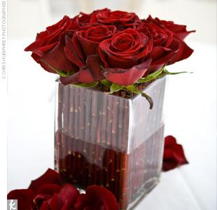 Svadobne vyzdoby cervena-bordova - Obrázok č. 31