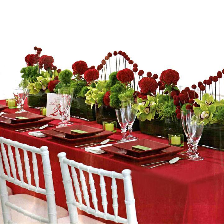 Svadobne vyzdoby cervena-bordova - Obrázok č. 45