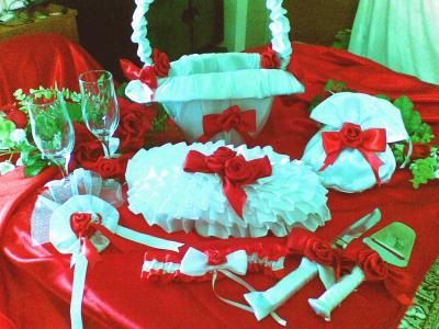 Svadobne vyzdoby cervena-bordova - Obrázok č. 80