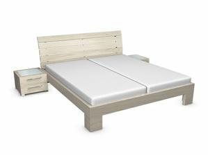 Naša posteľ dýha svetlý dub jitona.cz Michelle