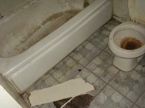 Naše krásná koupelnička. Představte si ty krásné a romantické chvíle, které tady denně trávíme s manželem.