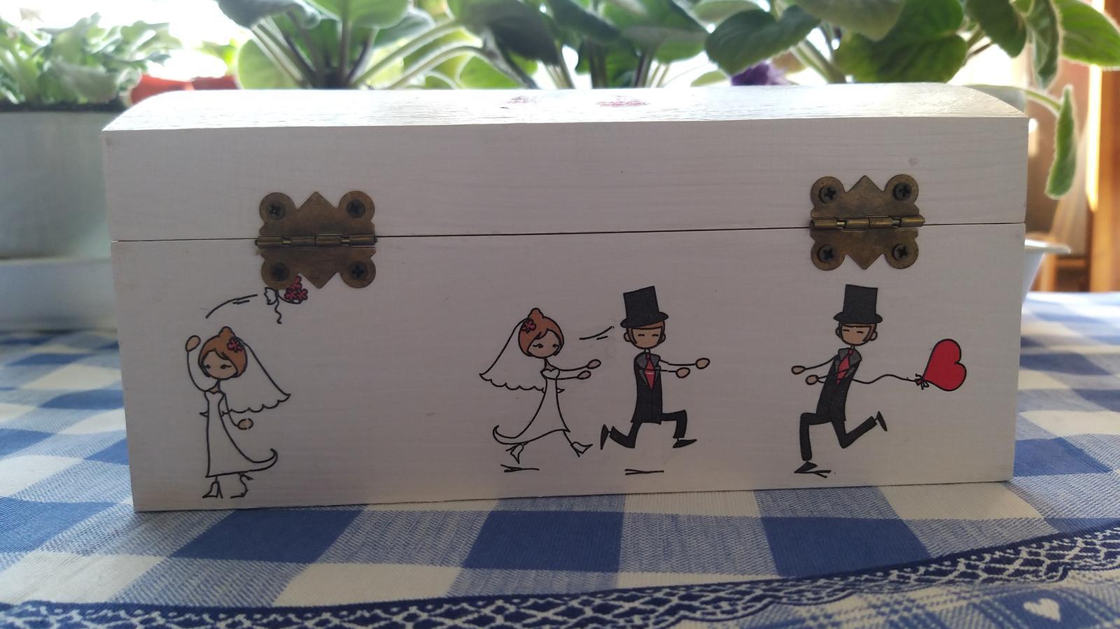 Drevená krabica na peniažky - Obrázok č. 2