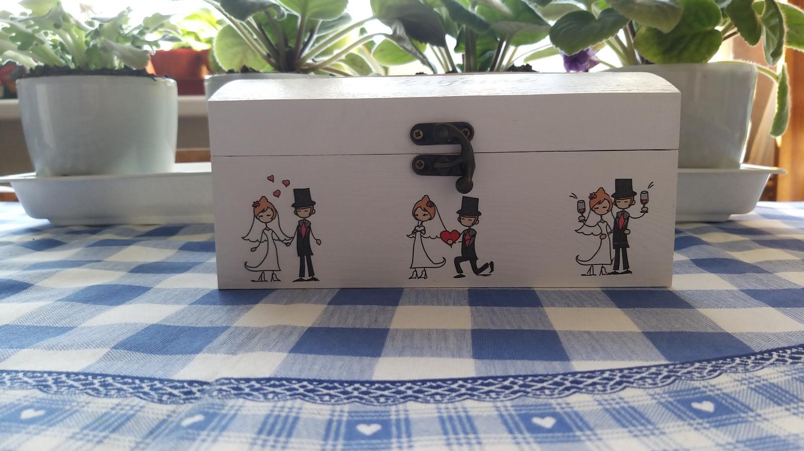 Drevená krabica na peniažky - Obrázok č. 4