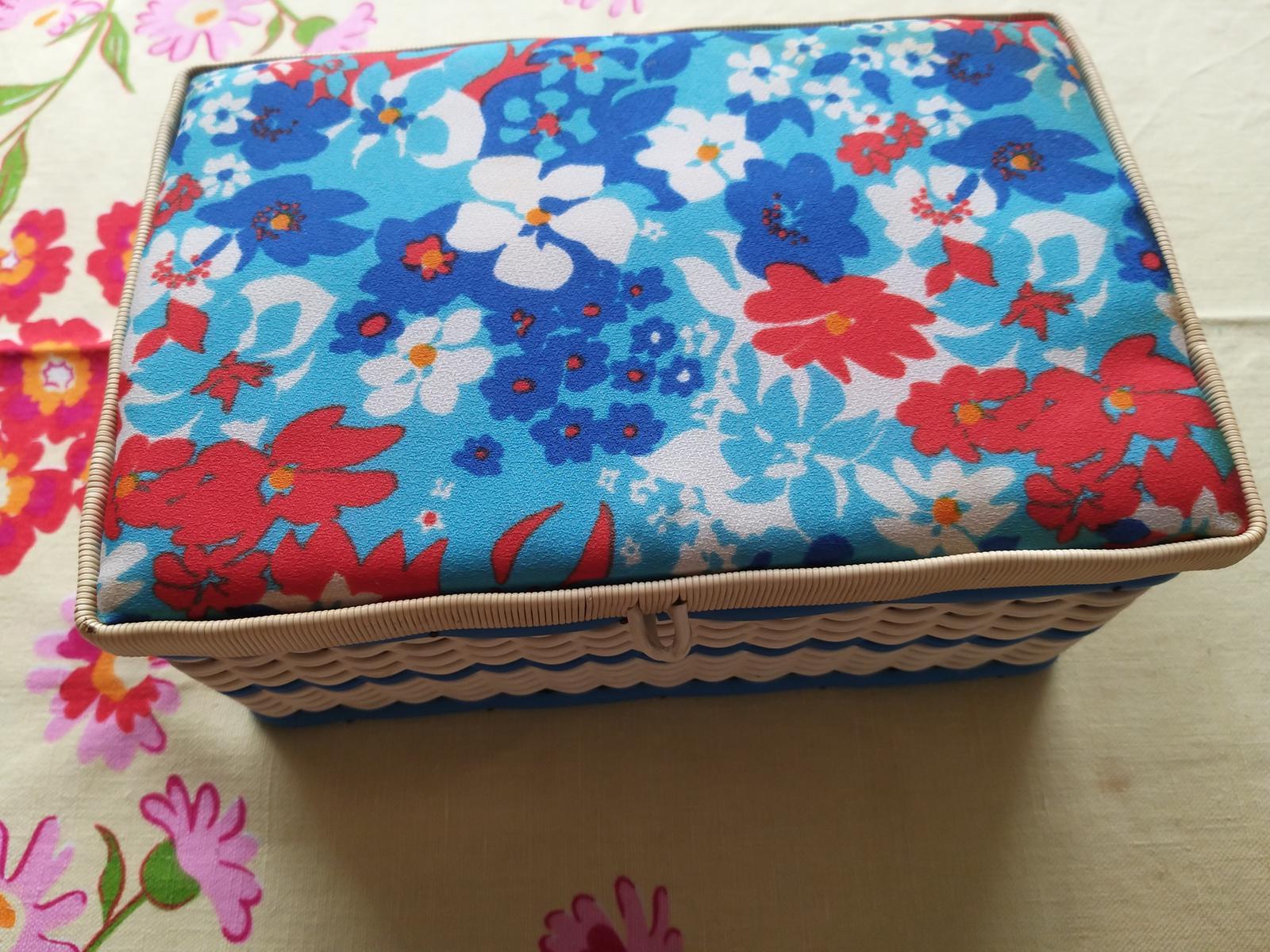 Prútená krabica na šitičko - Obrázok č. 1