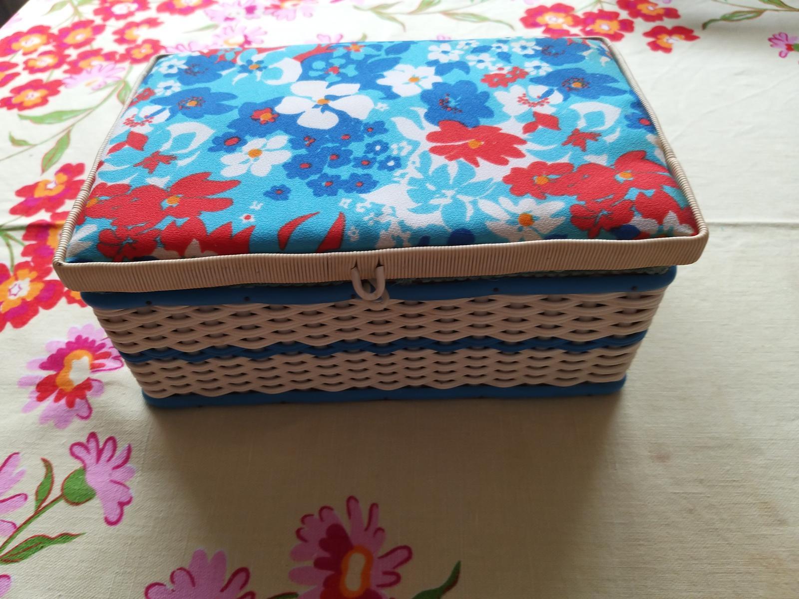 Prútená krabica na šitičko - Obrázok č. 2