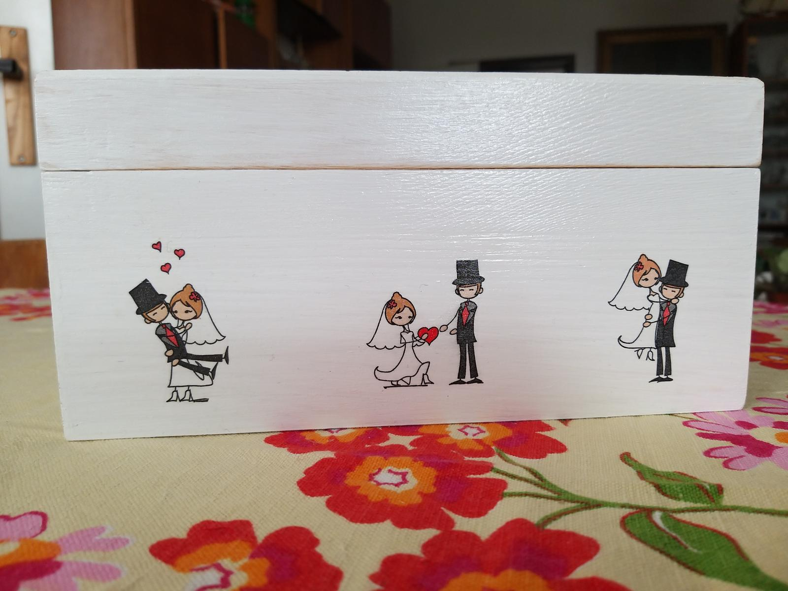 Drevená krabica na peniažky - Obrázok č. 3