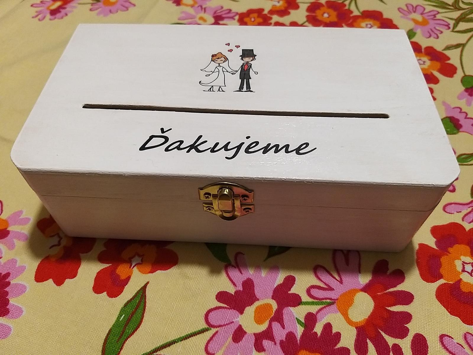 Drevená krabica na redový tanec - Obrázok č. 1
