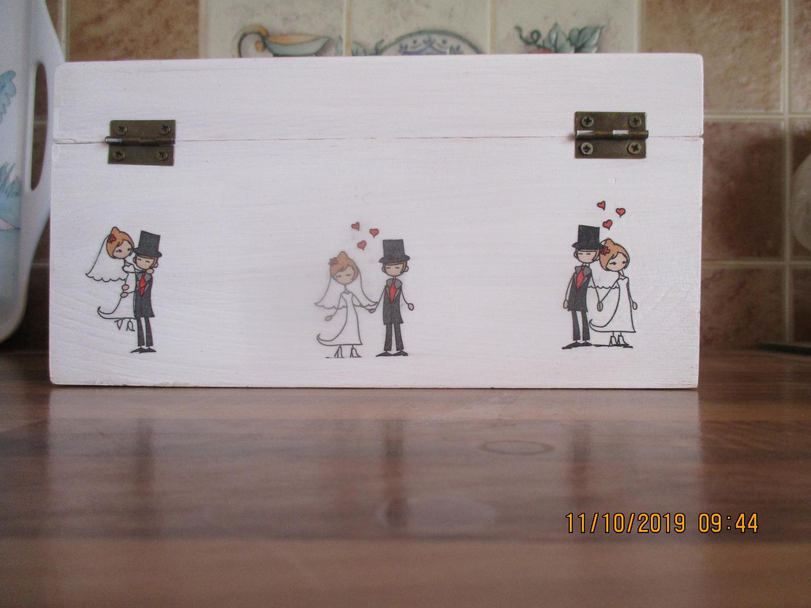 Drevená krabica na peniažky - Obrázok č. 1