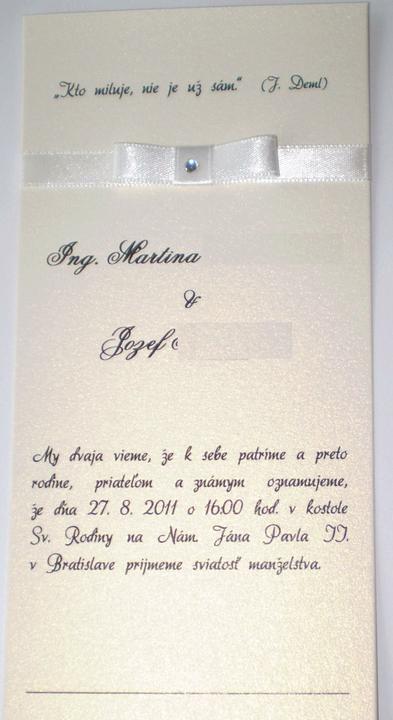 """Plany na den """"D"""" - 27.8.2011 - naše oznamenie :) len je maslicka trosku nakrivo..."""