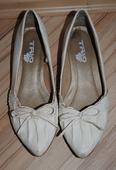 Bílé balerínky s mašličkou, 36