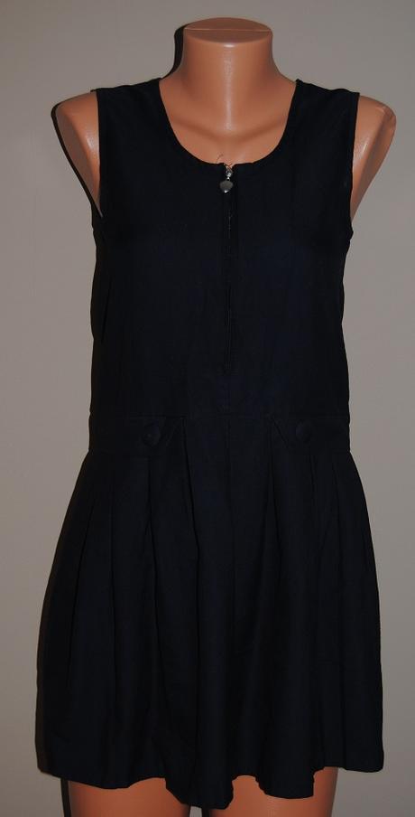 černé šaty se zipem ZECO London 36/38 - Obrázek č. 1