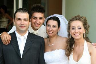 s mojím bratom a jeho priateľkou Martinou