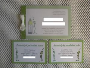 Oznámení, pozvánky - vlastní výroba