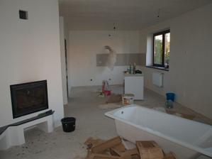 spojená kuchyňa, jedáleň a obývačka