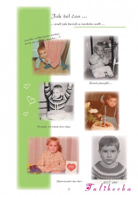 Lucie & Radek ♥2.8.2008♥ - pár listů ze svatebních novin, ...