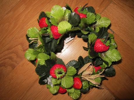Dekorace pro svíčku -jahody - Obrázek č. 1