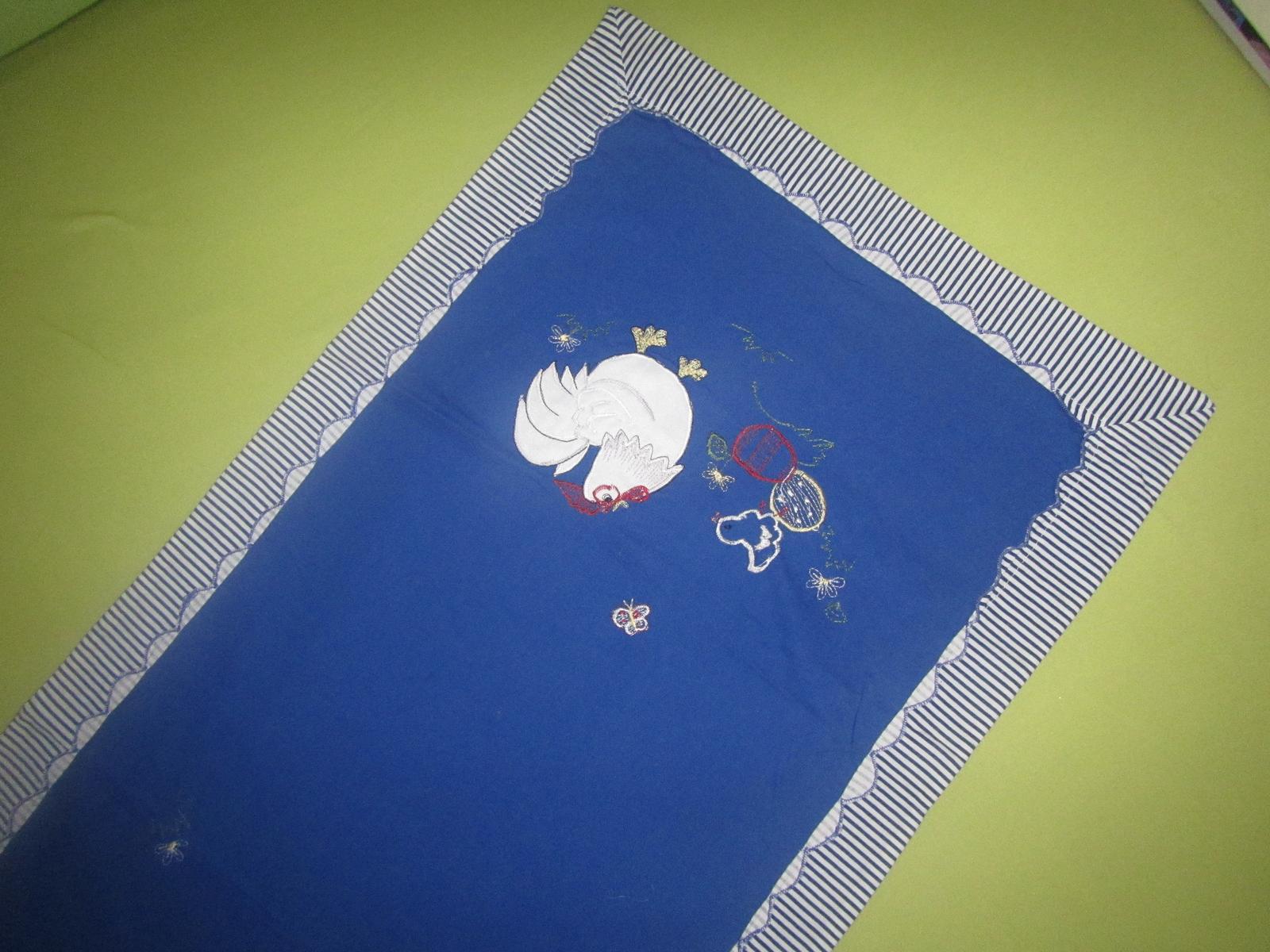 Ubrus běhoun na velikonoce, kohoutek, vajíčka - Obrázek č. 1
