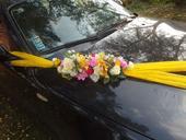 Výzdoba svadobneho auta,