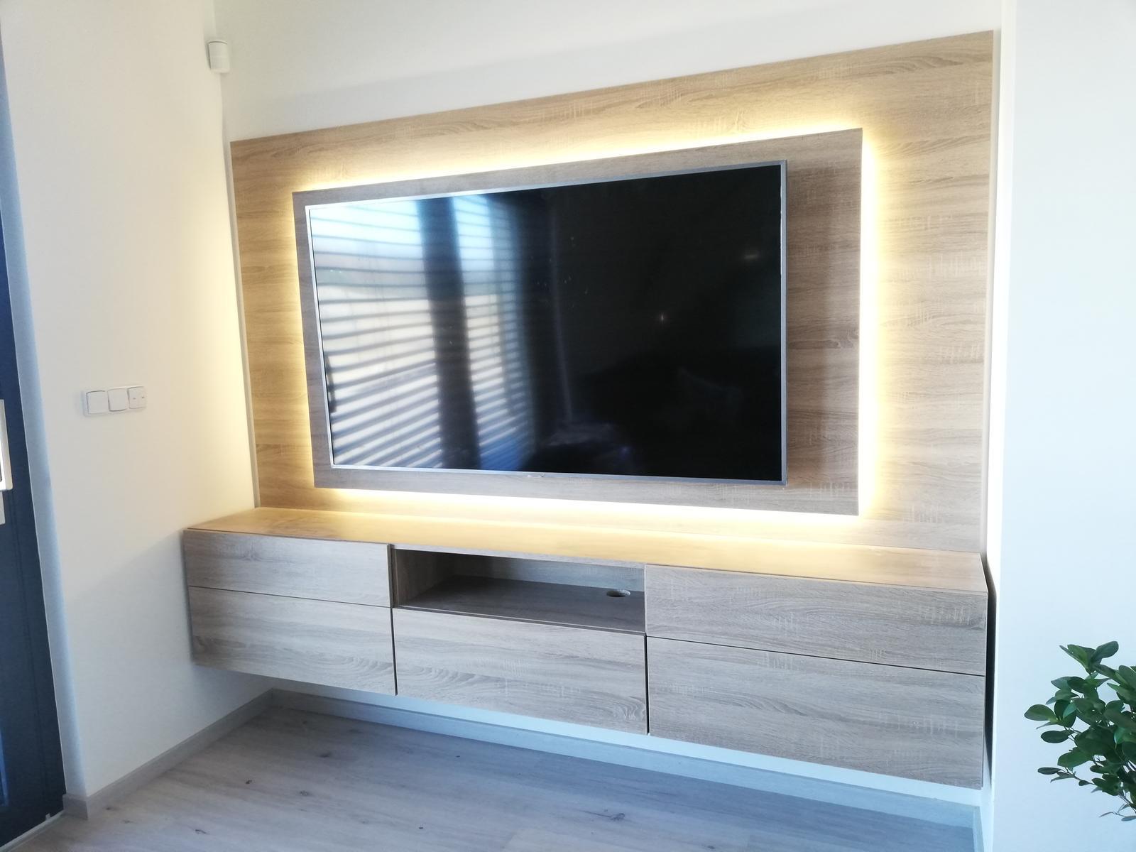Tak už i my stavíme 😍 - TV stěna hotovo 😉