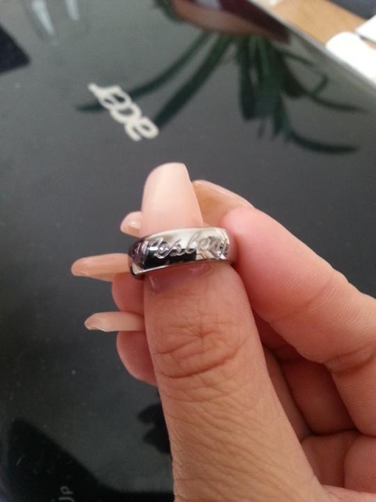 Nase prstienky - Moja obrucka s draheho menom.:)