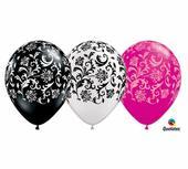 netradičné balóny vo vzore damask,