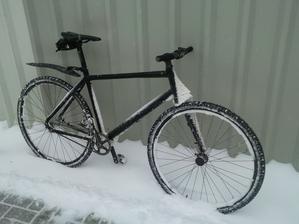 aj ked prší sneží nevadí kazdi den idem do roboti na bicigli a som aj tak šťasní