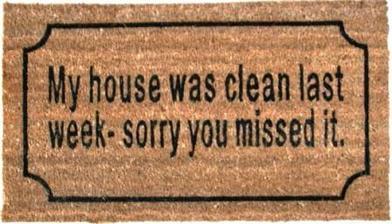 """""""Môj dom bol uprataný minulý týždeň, prepáčte zmeškali ste to"""""""
