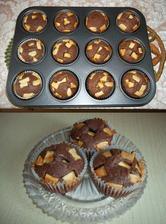 Muffiny s bílou čokoládou