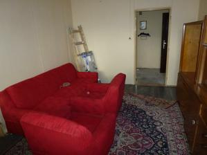 Začína rekonštrukcia - pôvodná obývačka, 10.10.2011.