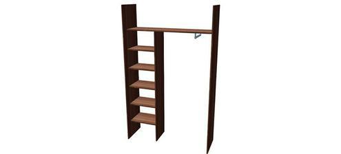 Skriňa na chodbe zvnútra - okrem vešania dlhých vecí do nej plánujem odkladať metly, rebrík, žehliacu dosku, vysávač, ... všetko, čo inak nemám kam skryť. A možno tam skončí aj kôš na prádlo, do kúpelne sa zrejme nezmestí.