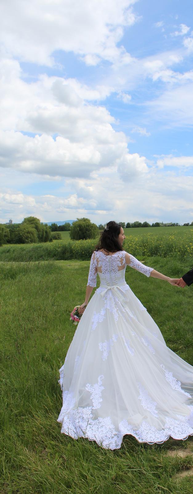 Svadobné šaty veľ. 38-40 - Obrázok č. 1