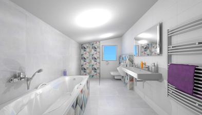 Návrh SIKO - kúpelňa poschodie