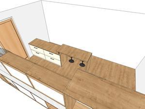 Návrh kuchyne (tie dvere to je v návrhu miesto okna ktoré tam je v skutočnosti)