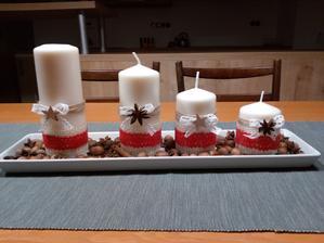 Manželka spravila adventné sviečky
