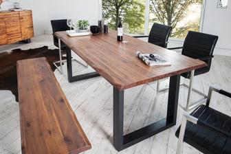 Takúto máme predstavu o stole. Len doska bude dubová, s prírodným odtienom, olejovoskovaná 180x90cm