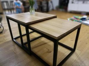 19.04.2018 - Konečne dokončený konferenčný stolík. Konštrukcia upravená práškovaním, masívna dubová doska, povrchová úprava olejovosk OSMO