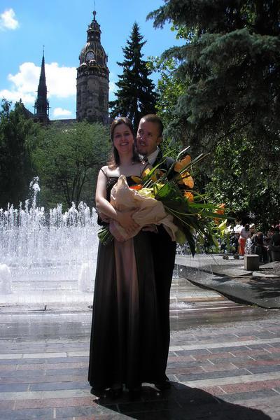 Prípravy na 2.5.2009 Janka a Ondrej - My dvaja na mojich promóciách